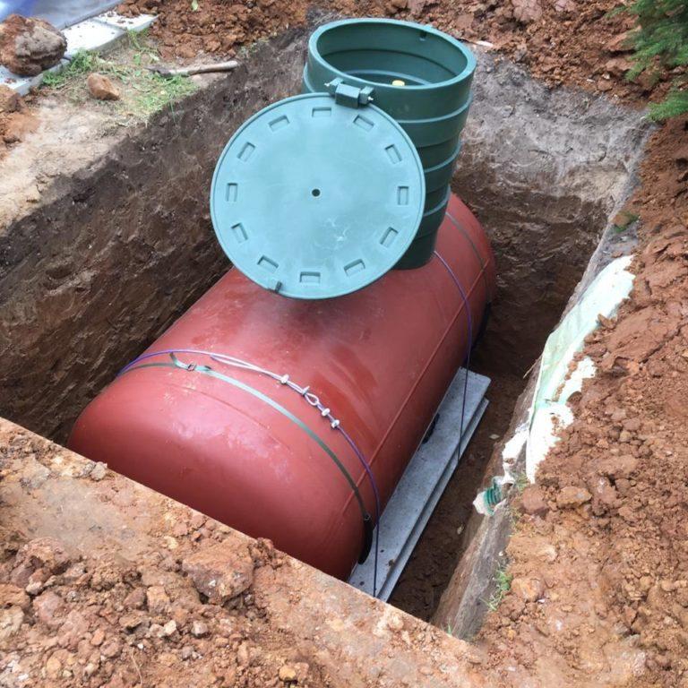 Установка газгольдера и котла для дома 100 кв/м